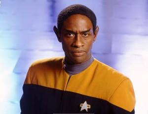 Commander Tuvok, a black Vulcan